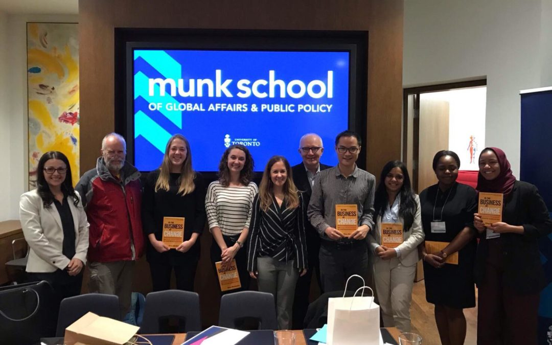 And The Winner Is: Elisa is a judge at the Munk School's Hult Case Competition